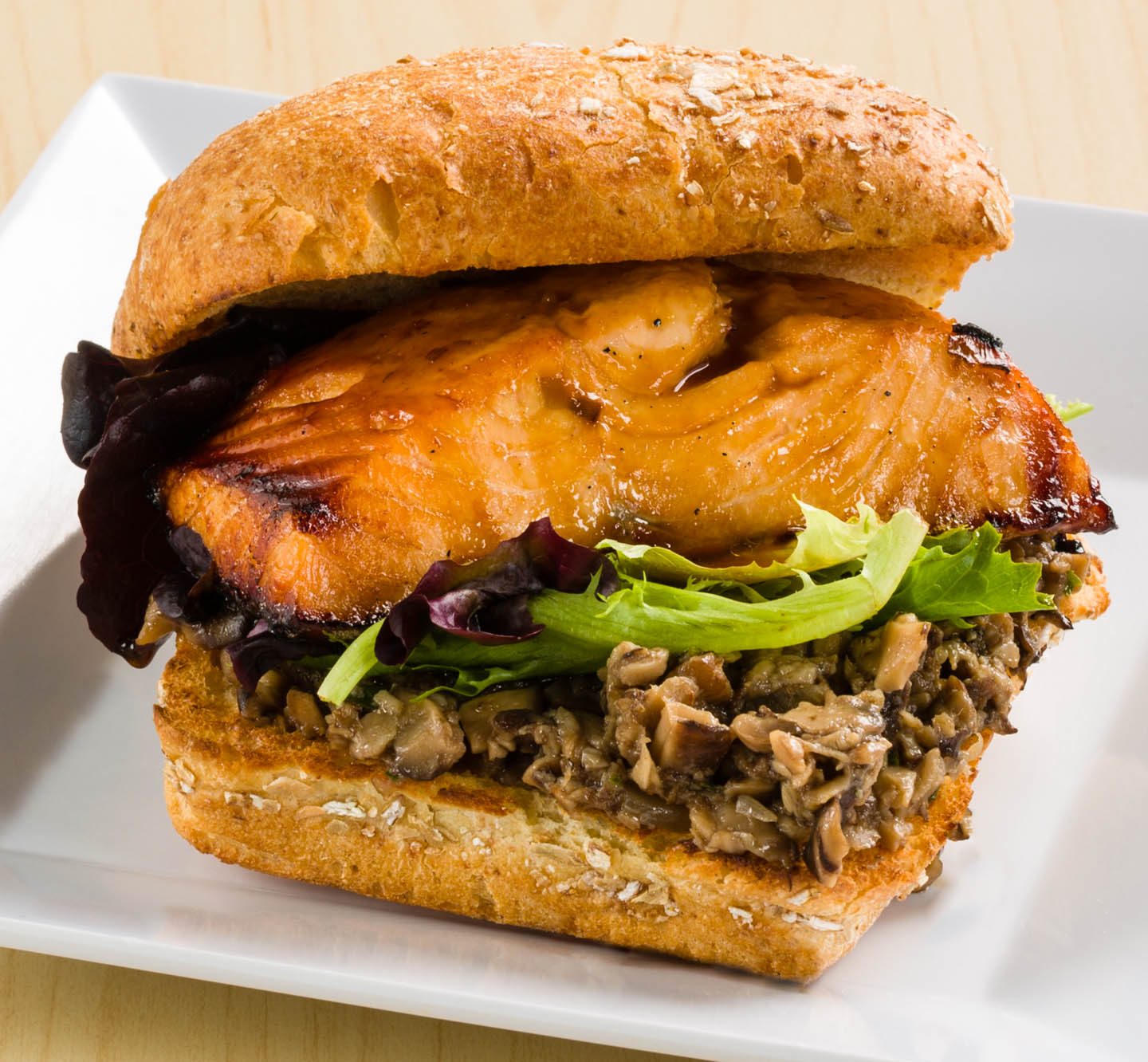 Honey Salmon Sandwich
