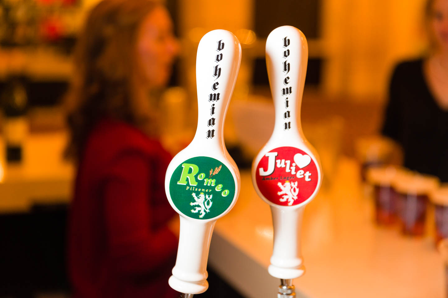 Romeo & Juliet themed beers taps