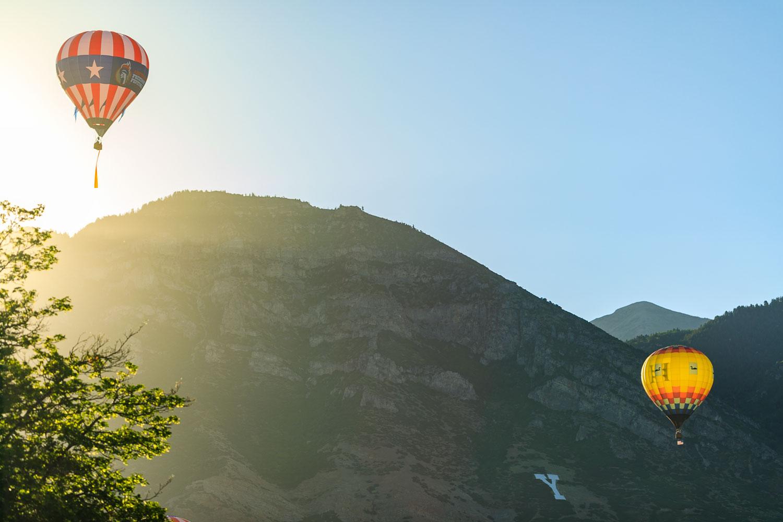 Hot Air Balloons over Y Mountain