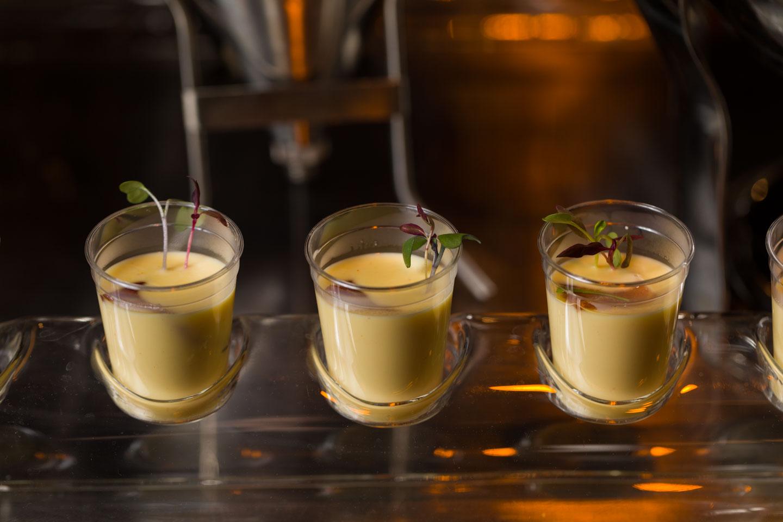 Soup shot appetizers