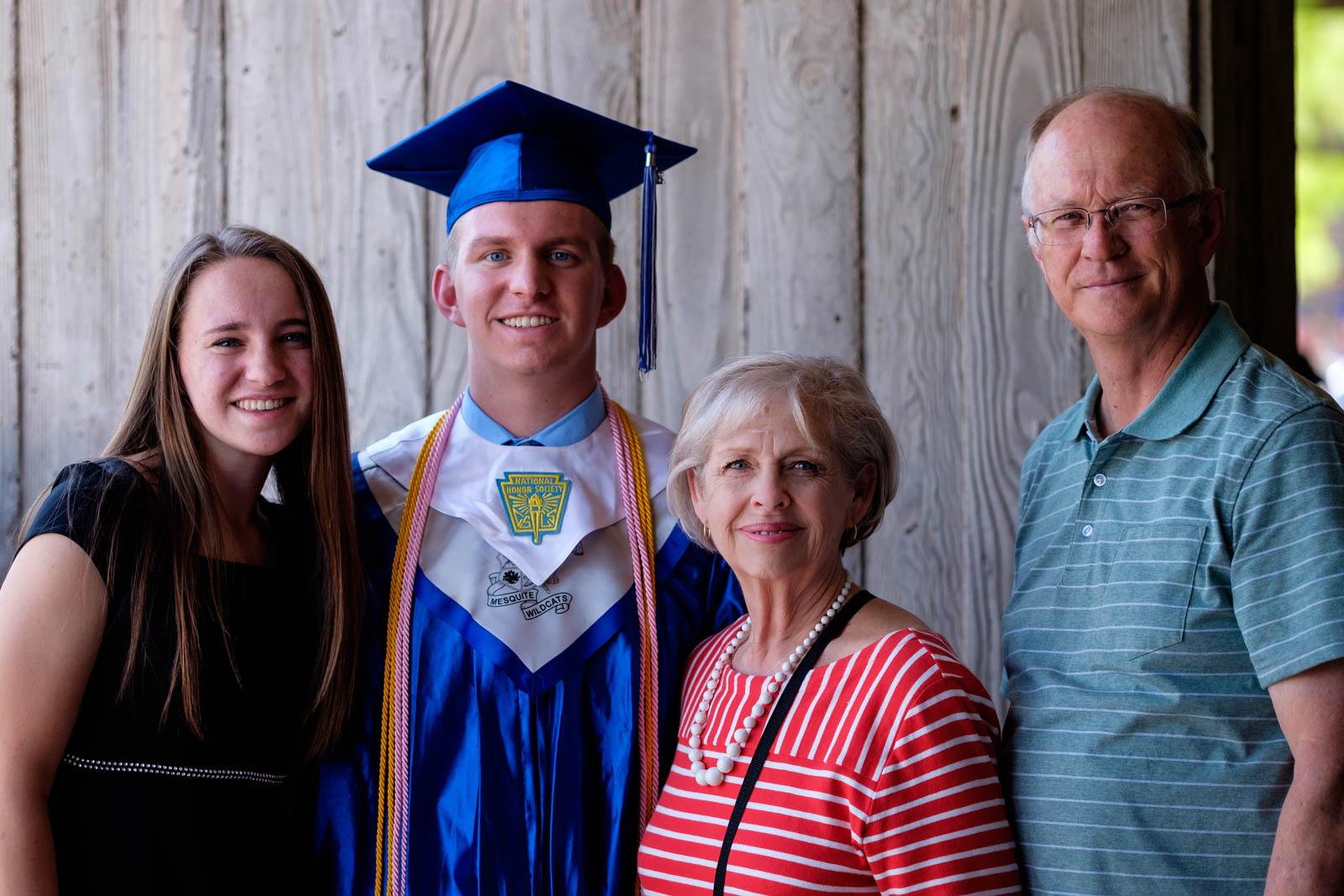 Matthew with his Nana & Papa and sister
