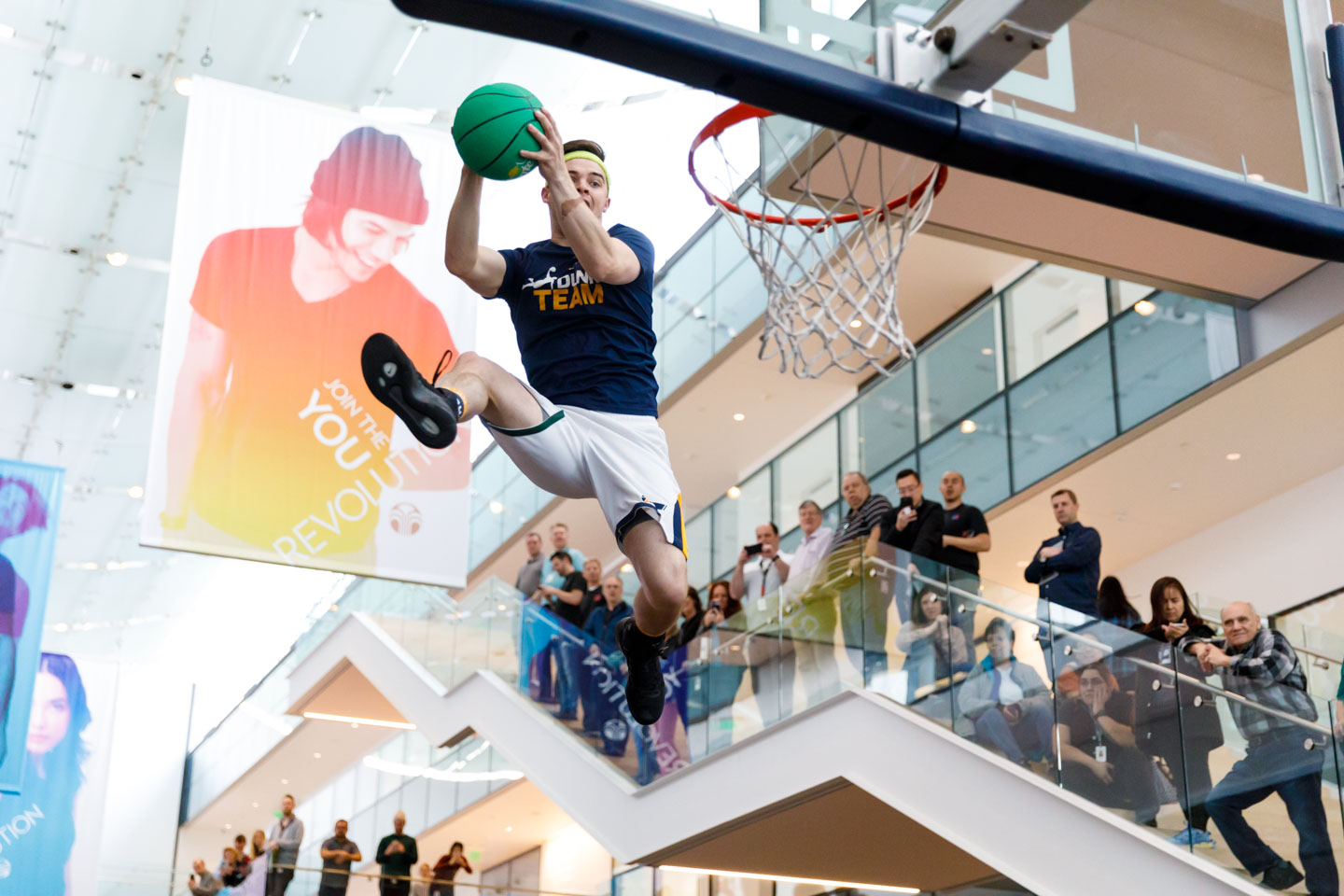 Utah Jazz Dunk Team flying high