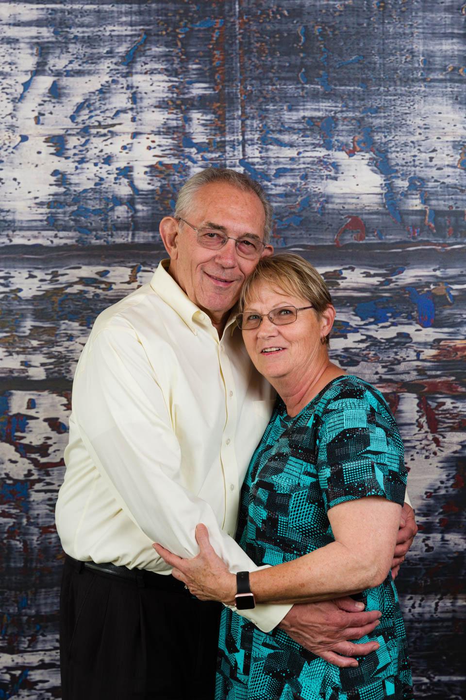 The couple celebrating