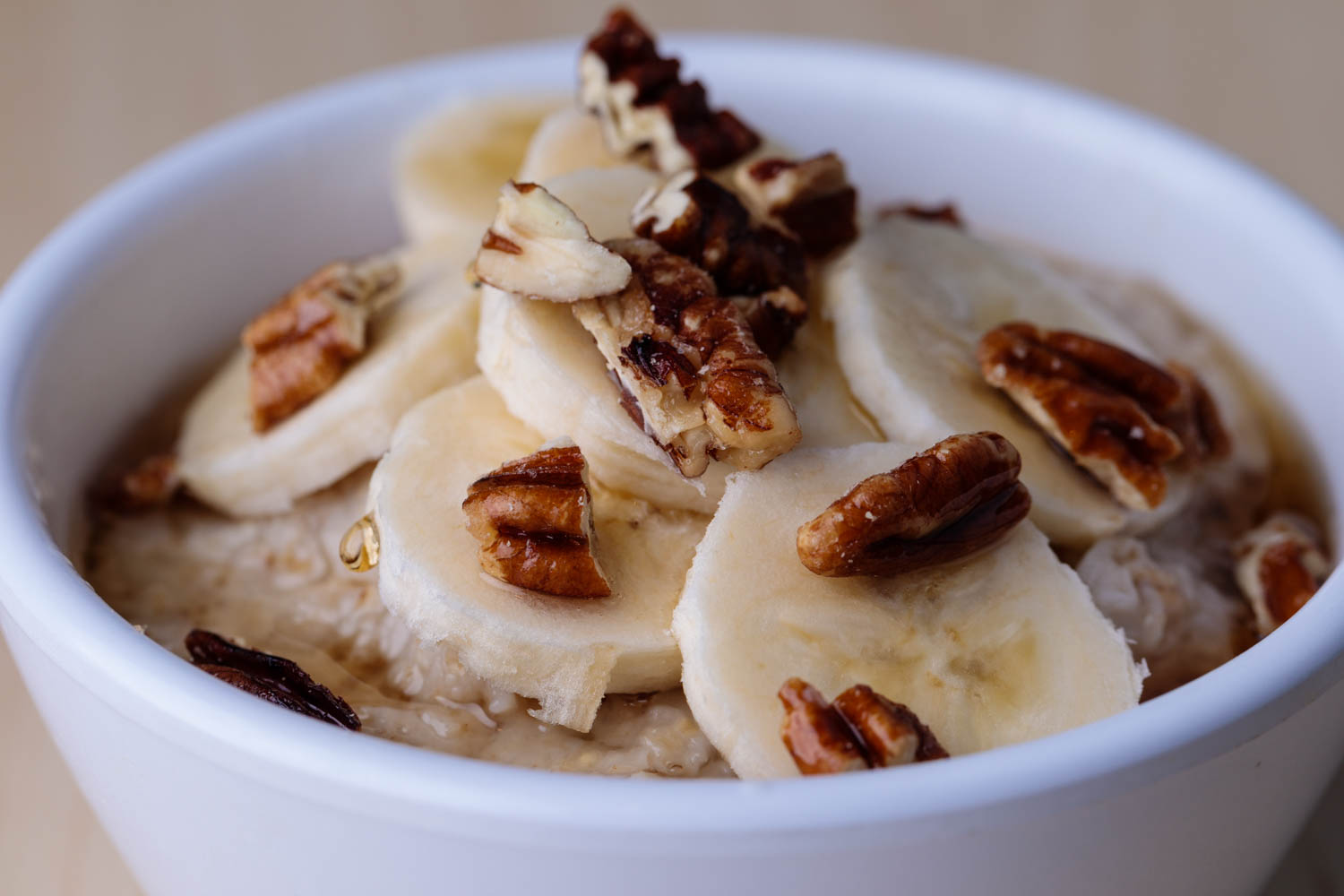 Pecan & Banana steel cut oatmeal
