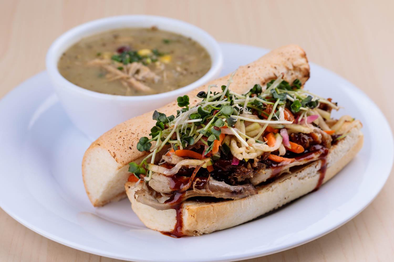 Korean ban mi fusion sandwich