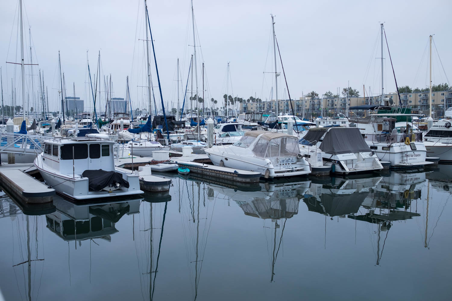 Boats on an overcast morning