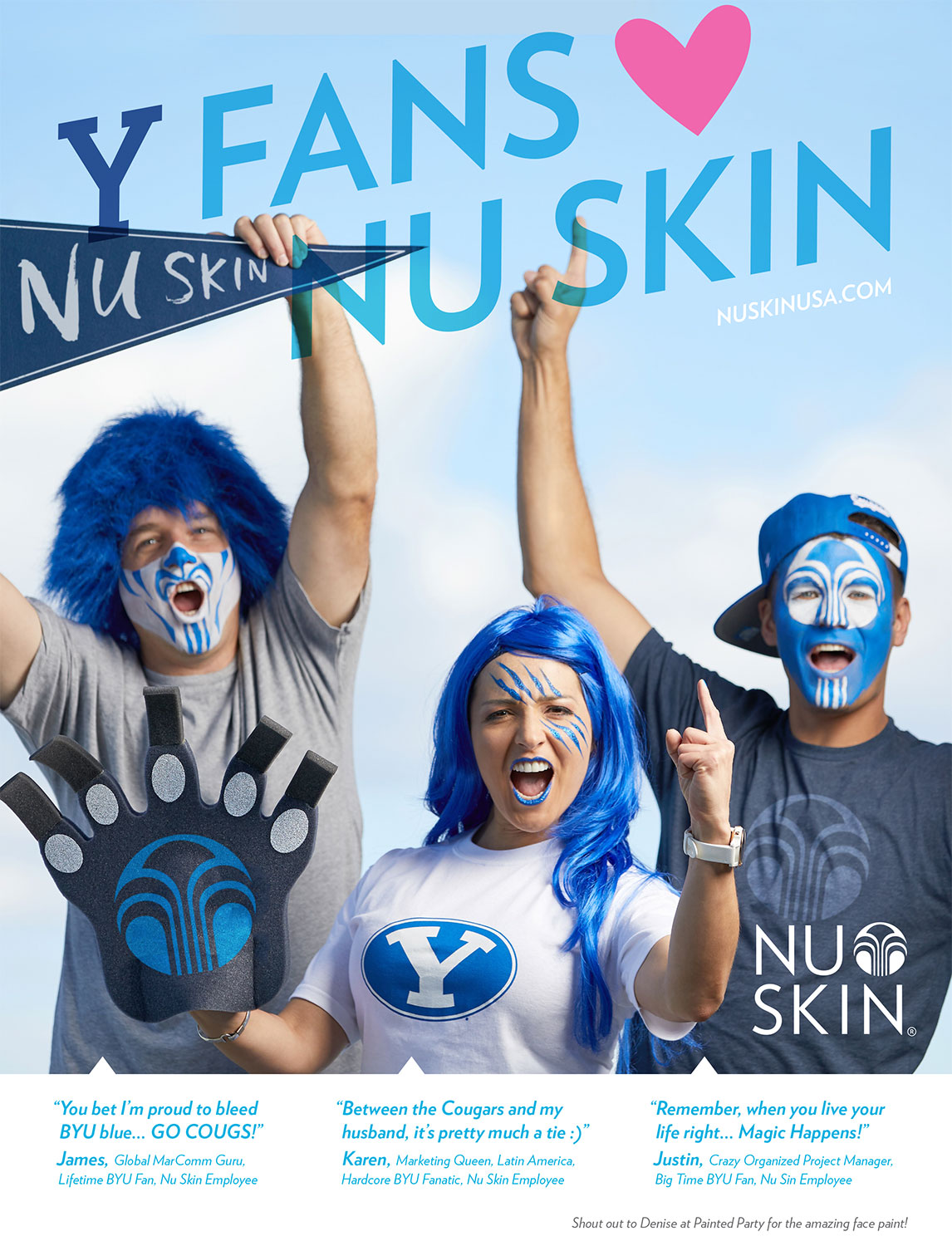 The final advertisement in the BYU Football program