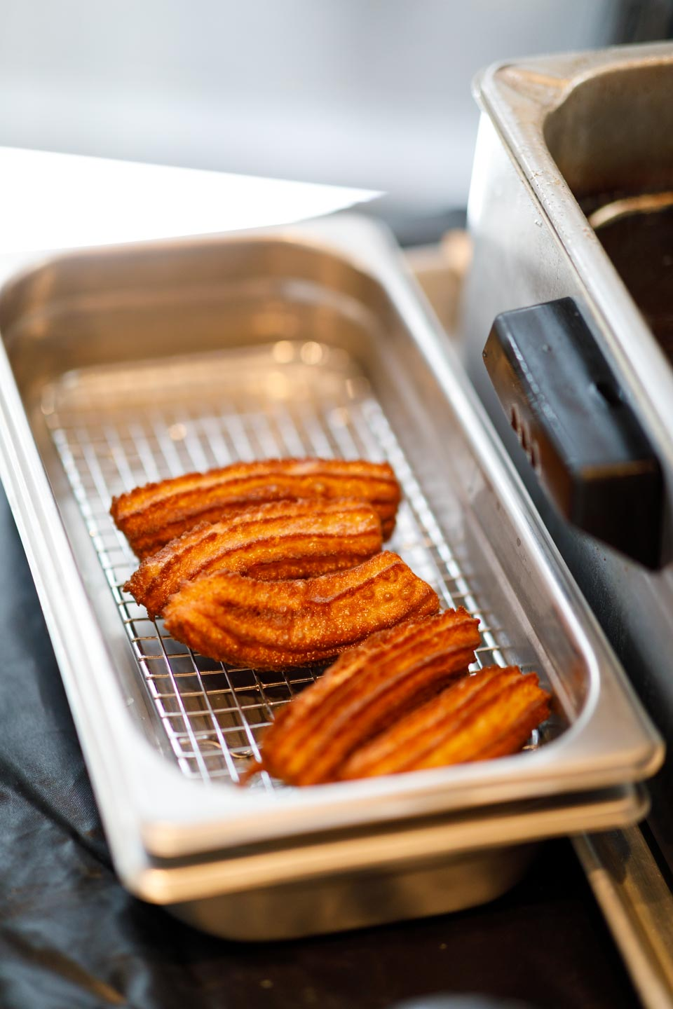 Churros ready for flavorings