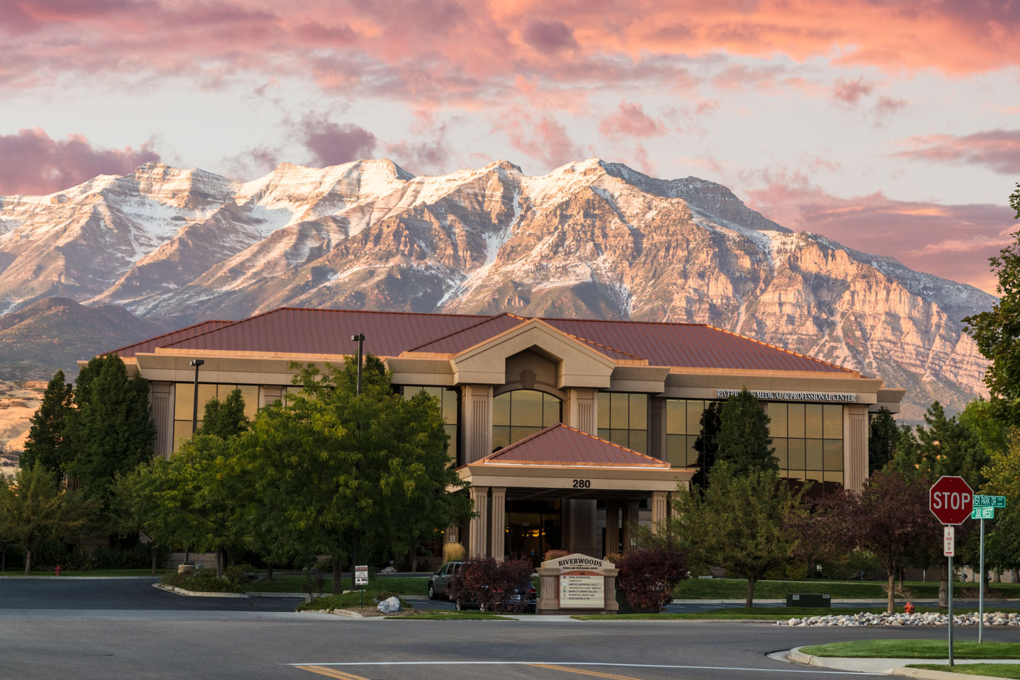 Mount Timpanogos behind the clinic