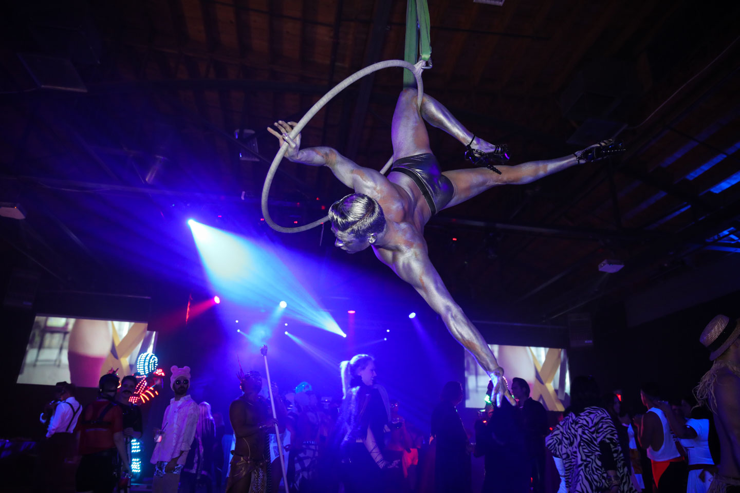Aerialist on a hoop