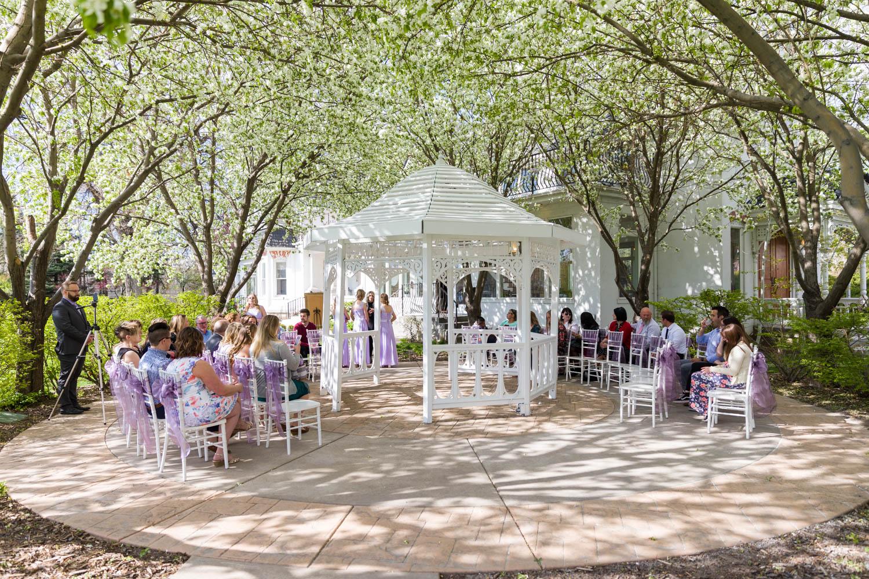 The wedding outside