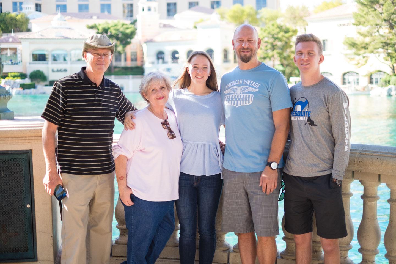 The family in Vegas