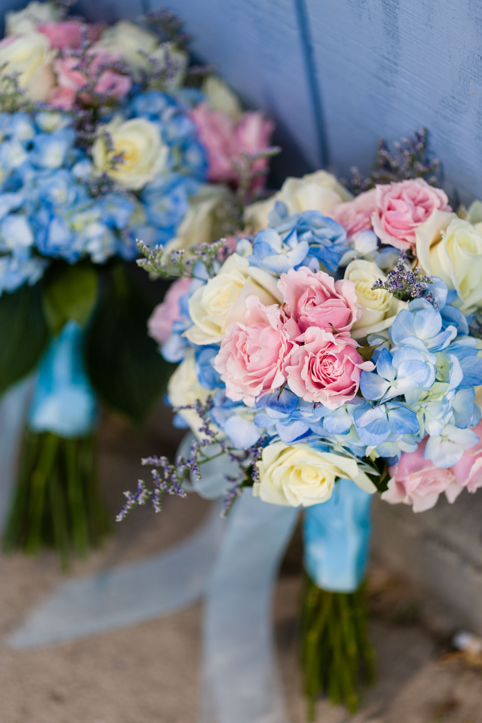 2 wedding bouquets