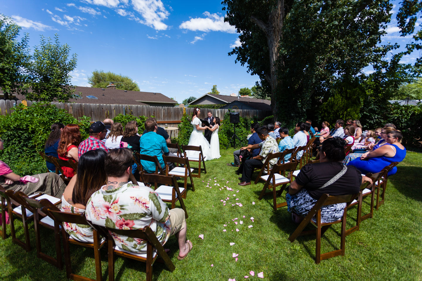A backyard wedding