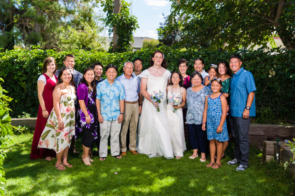 The Bride's side of the family