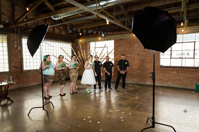 Behind the scenes of wedding portraits