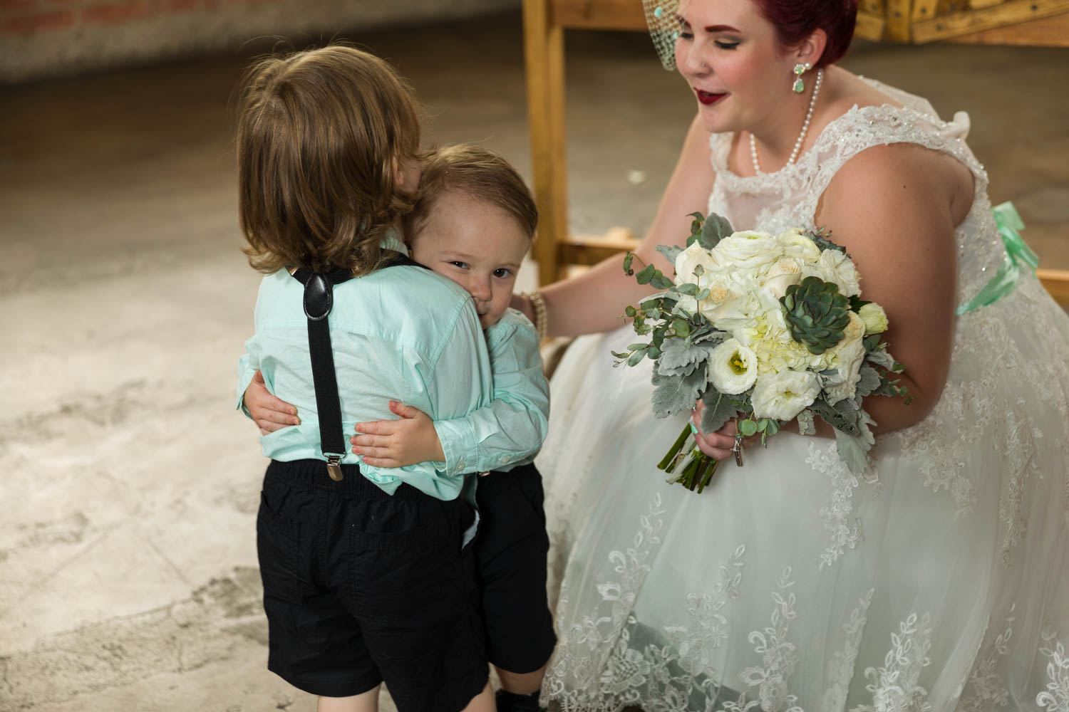 Giving hugs between ring bearers
