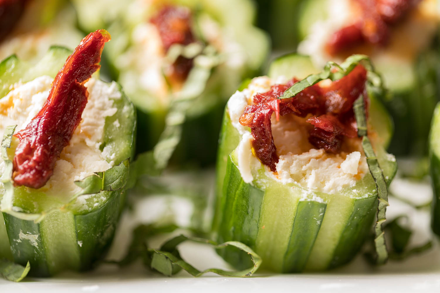 Bacon & Cucumber hor d'oeuvres