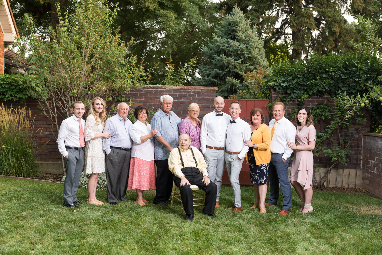 The family before the reception