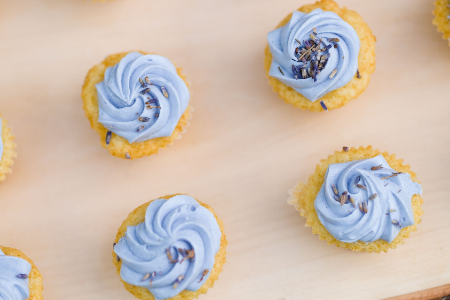 Lavender & lemon cupcakes by LUX Catering & Events