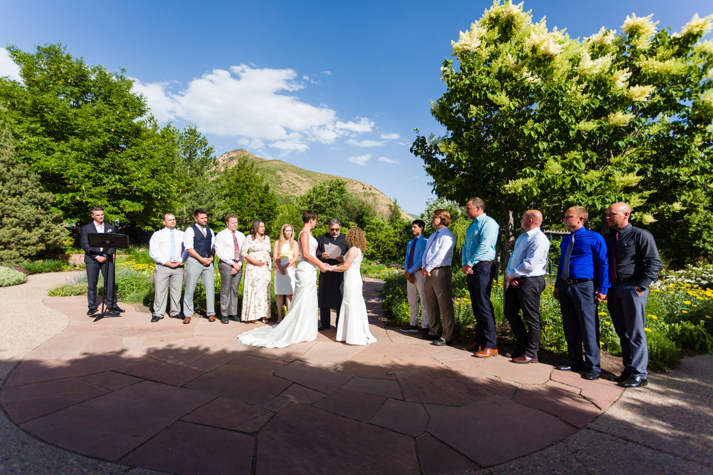 Wedding ceremony at Red Butte Garden