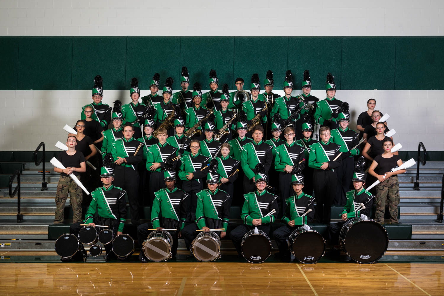 Group photo of the PHS Marching Band