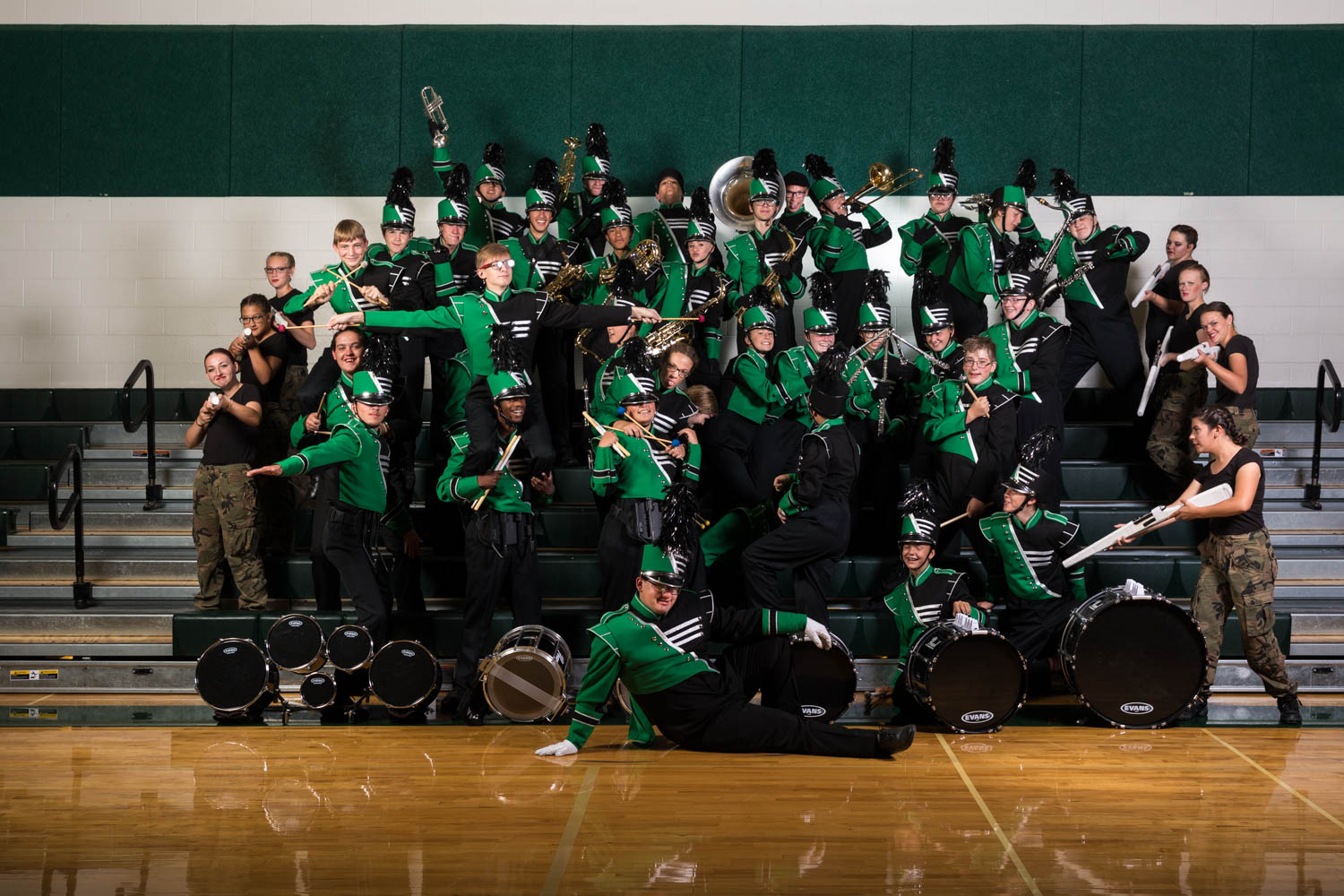 Portraits for Payson High Marching Band | dav d photography