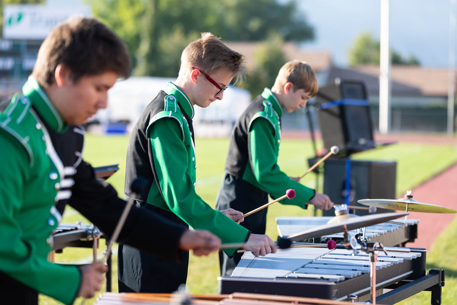 Percussion is the sound effects of the band