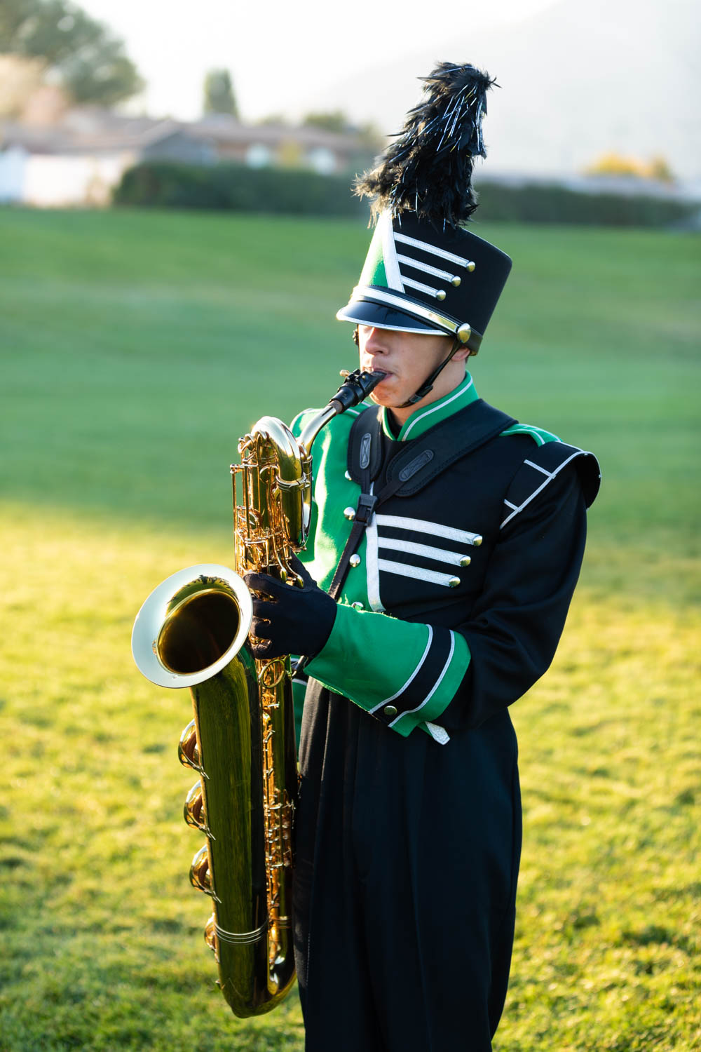 Playing the bass saxophone
