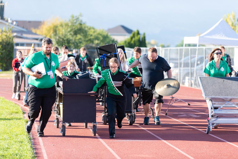 The percussion make a made dash
