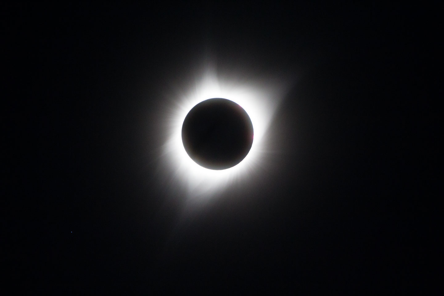 Total eclipse as seen by the camera