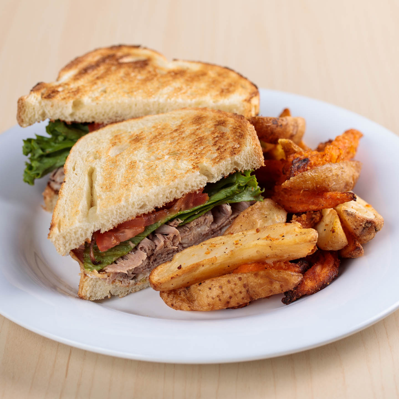Green Chile Cheddar Brisket Sandwich
