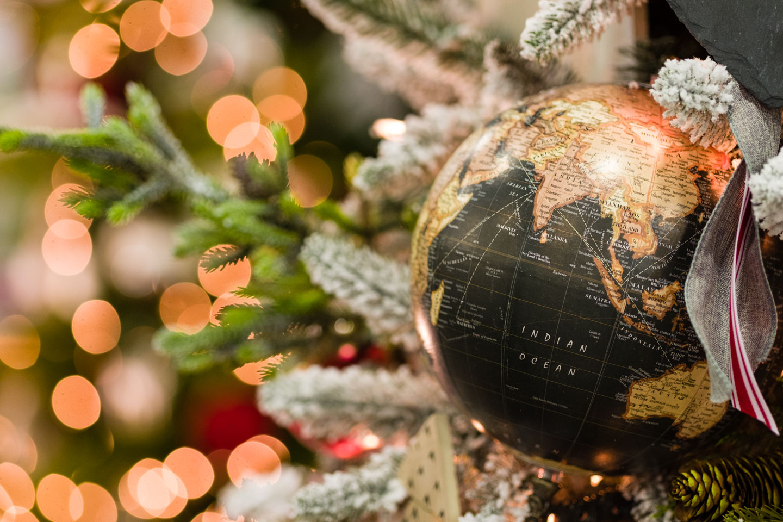 A Christmas globe