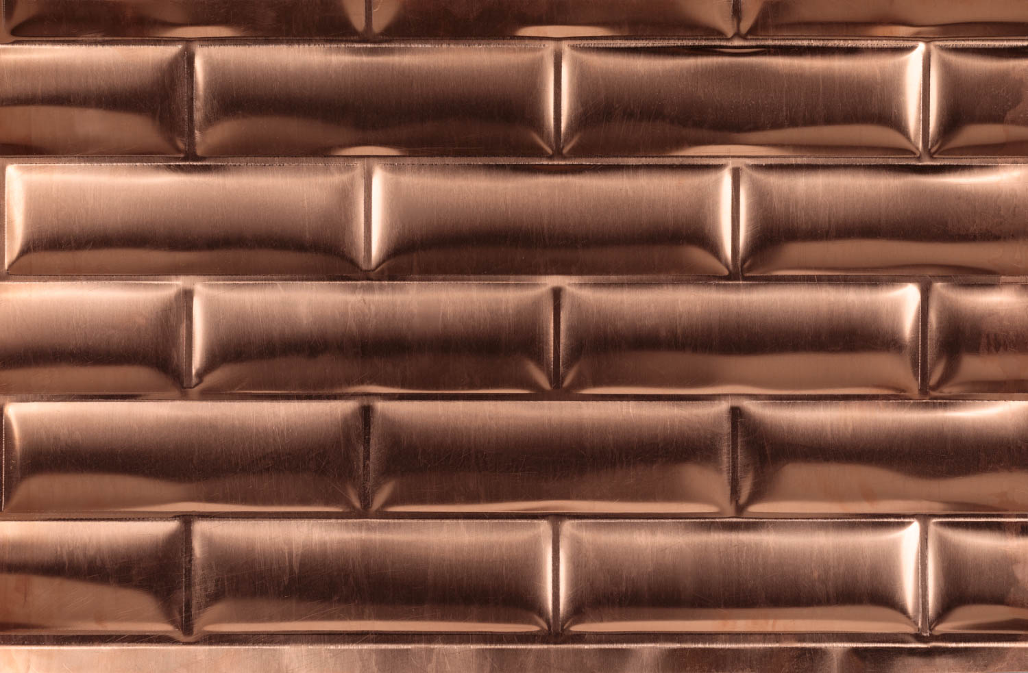 Copper subway tiles