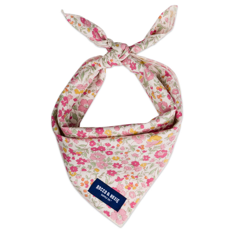 Folded bandanas with product photography