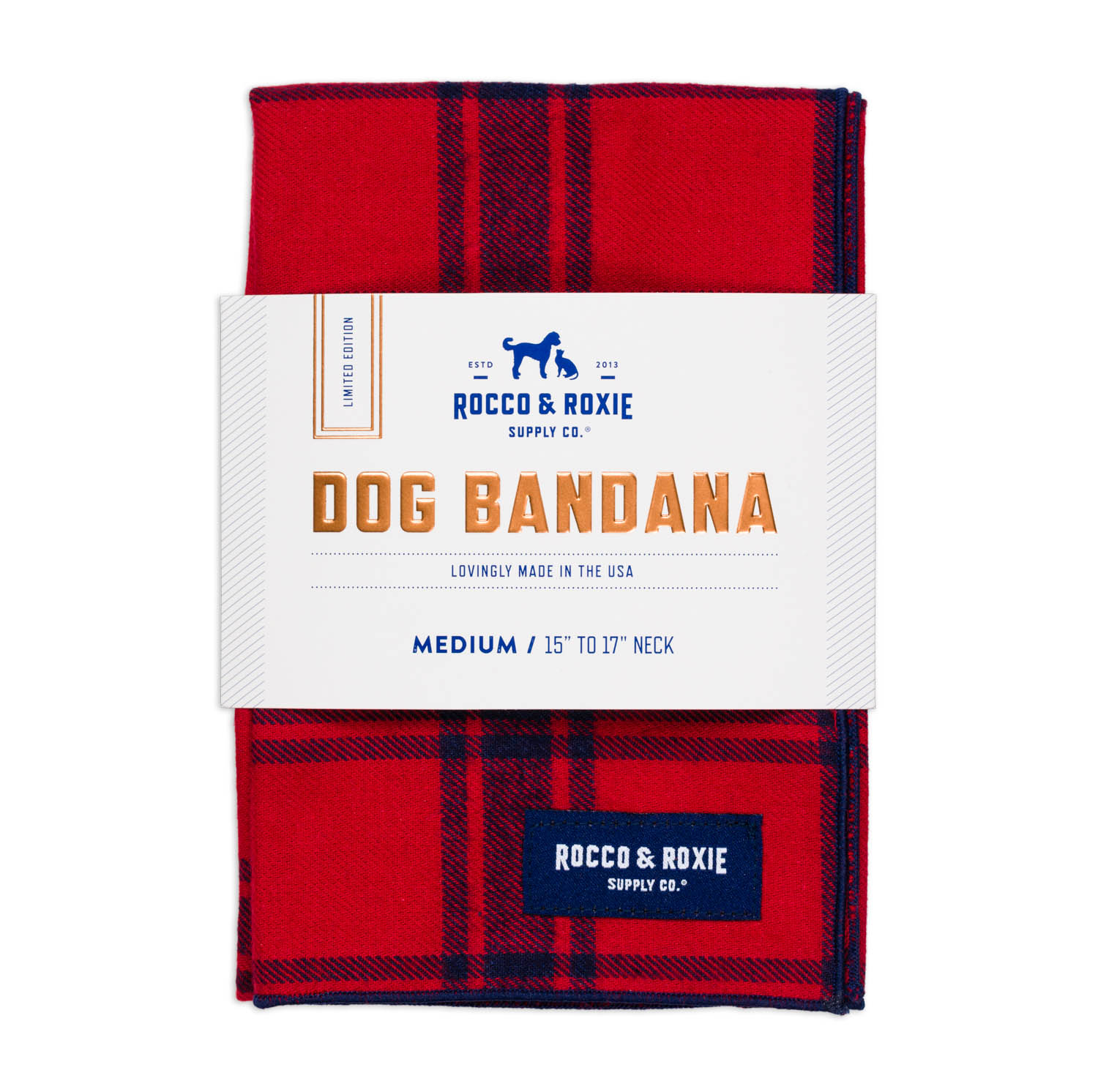 Red bandana for dogs