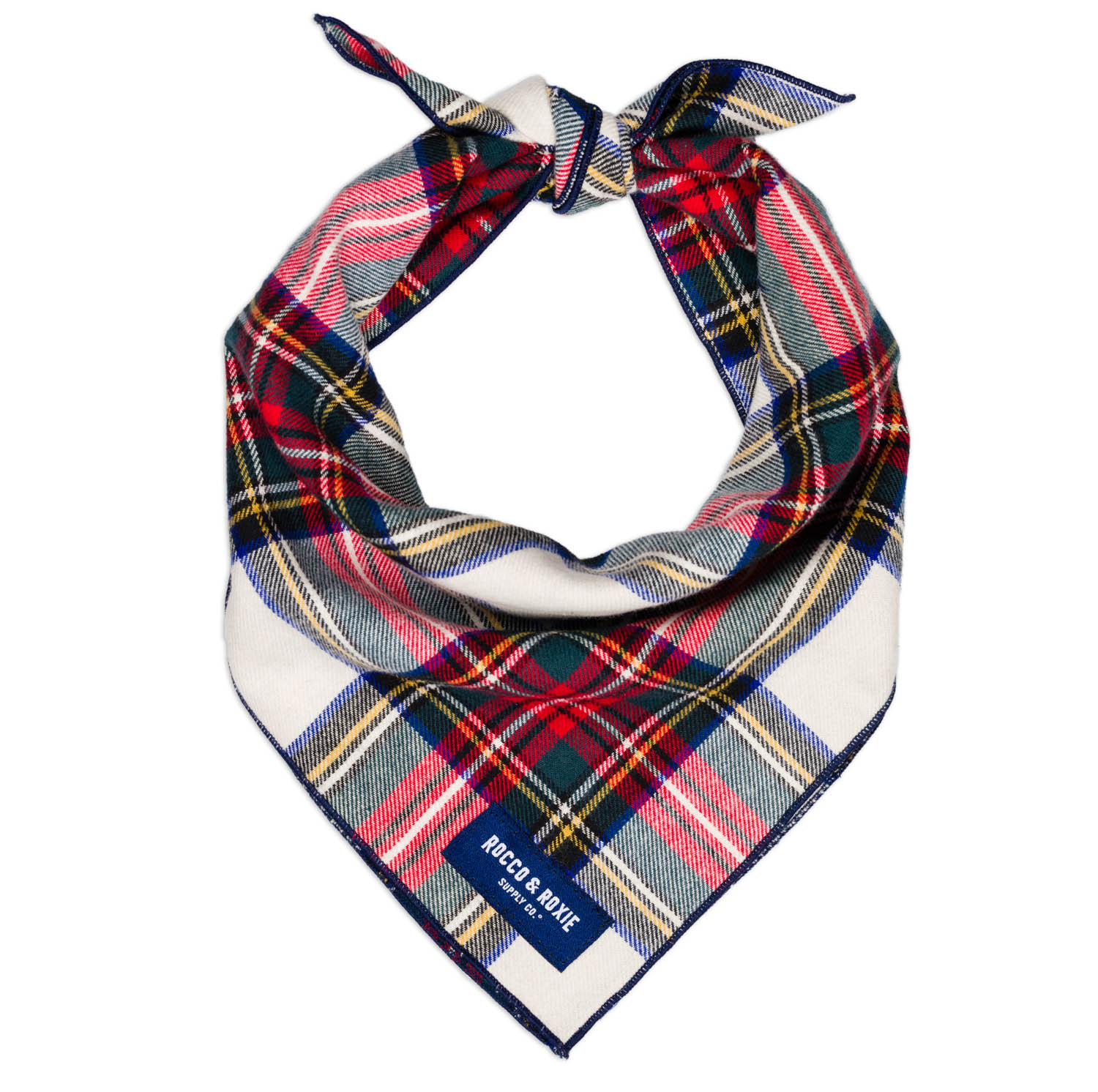 Plaid bandana for dogs