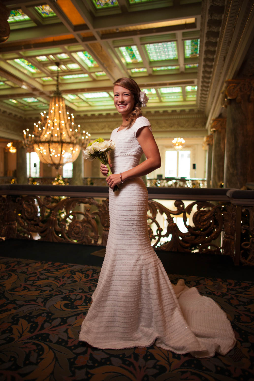 Kelli Jo's bridals at the Joseph Smith Memorial Building