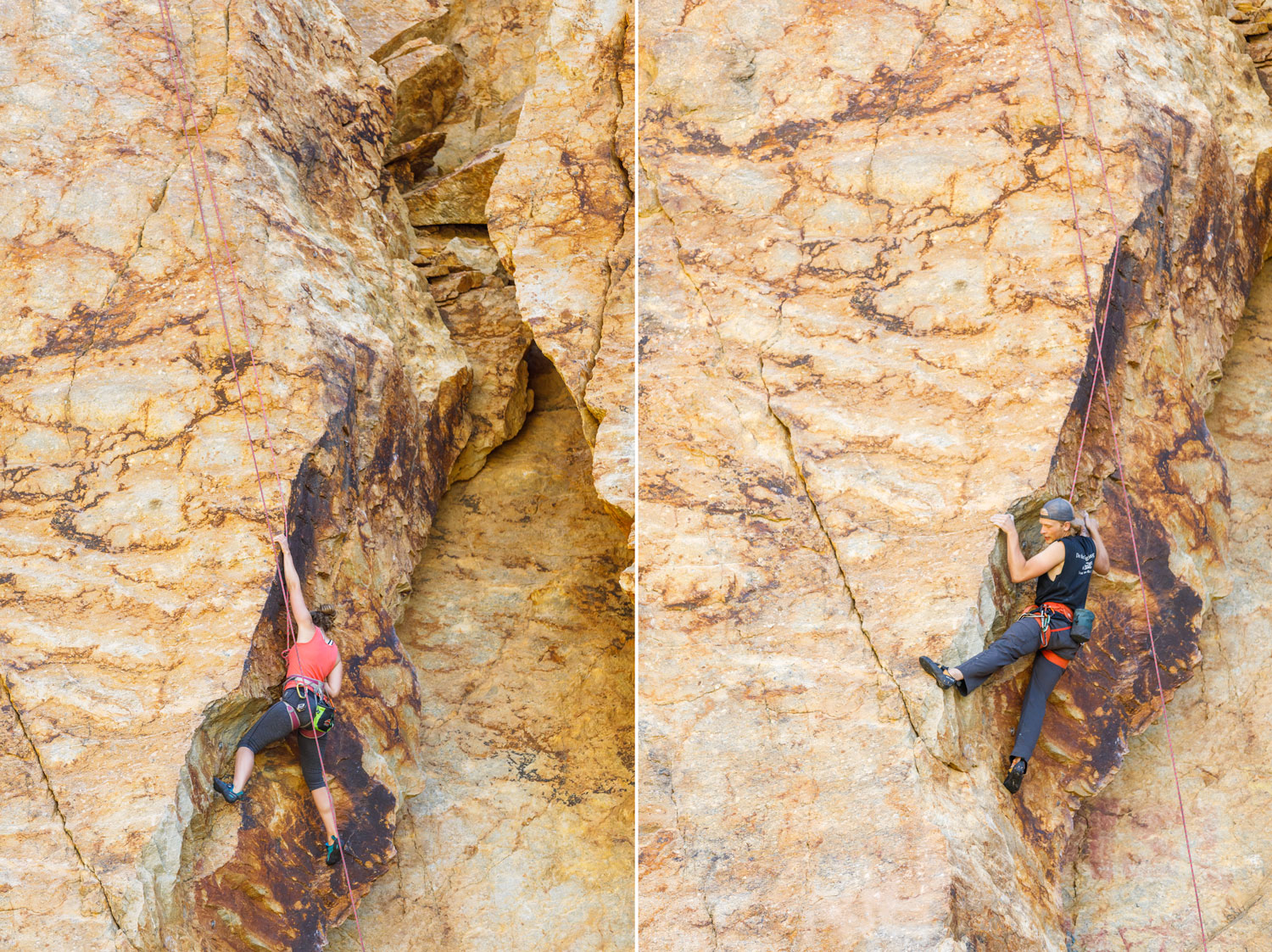 Rock climbers enjoy the canyon