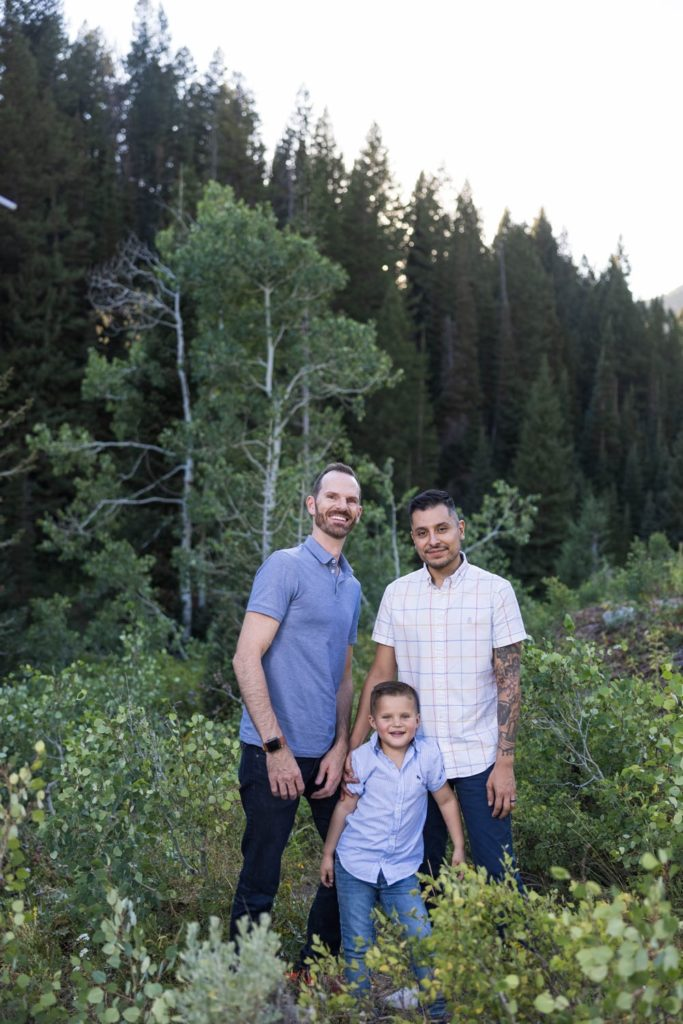 Family photo in Big Cottonwood Canyon
